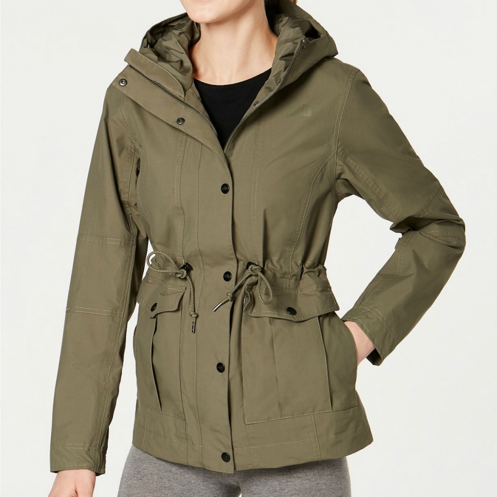 Woman wearing The North Face Zoomie hoodie