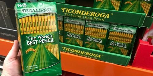Dixon Ticonderoga 96-Count Pencils Under $10 at Costco & Sam's Club (Amazing Reviews)