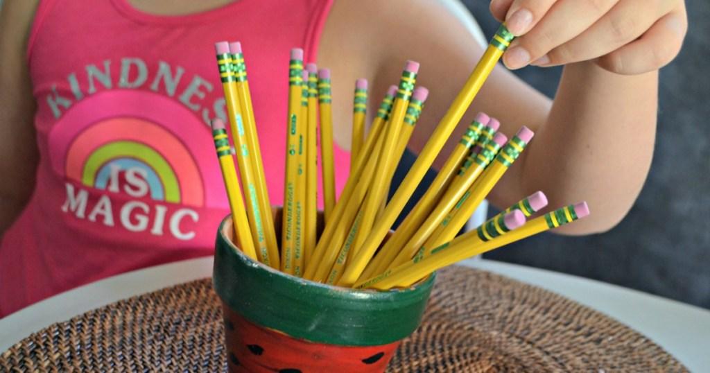 jar of ticonderoga pencils