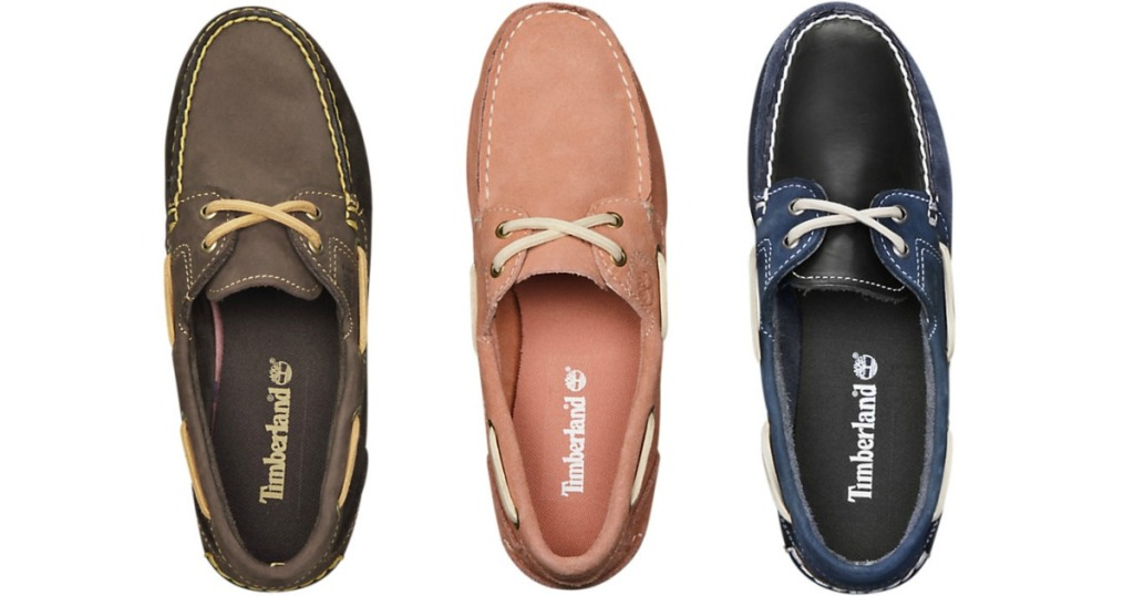 Women's Timberland Boat Shoes in various colors