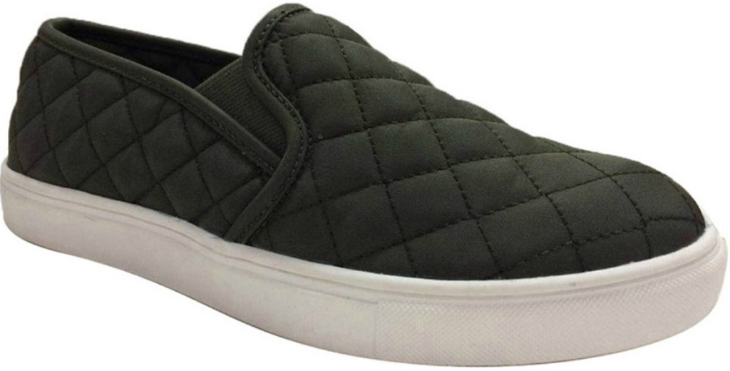 Quilted Shoe in Olive