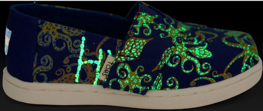 Tiny TOMS Classics in Octoglow Glow-In-The-Dark Canvas