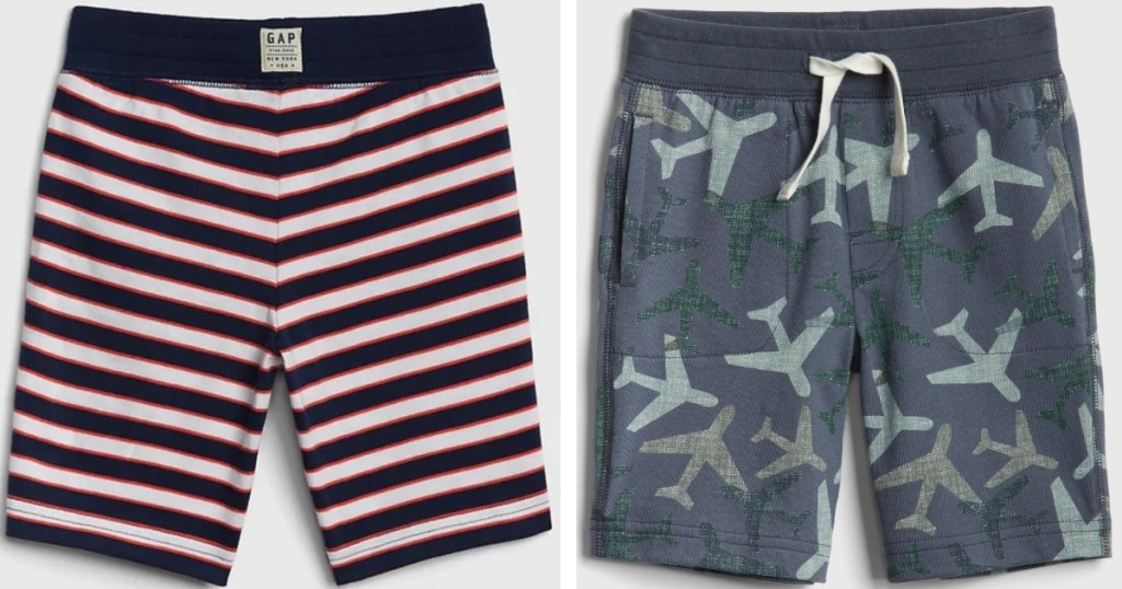 boys striped and plane shorts