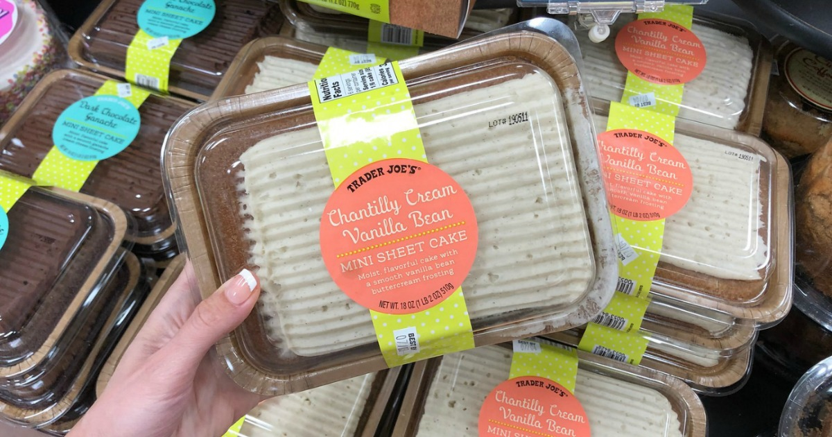 Trader Joe S Chantilly Cream Vanilla Bean Sheet Cake Is A Must Try Item Hip2save