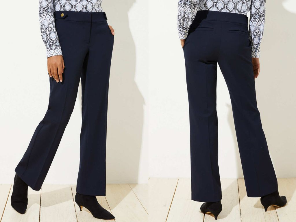 woman Trousers in Button Tab Waist in Julie Fit