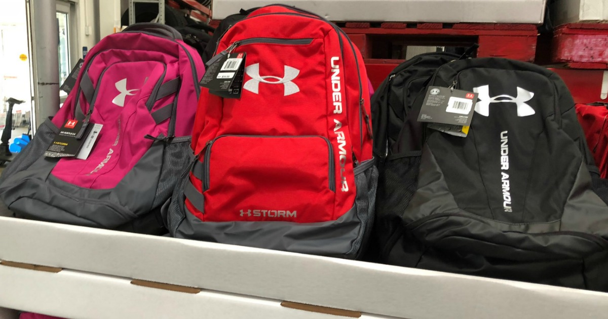 Under Armour Backpacks in display in store