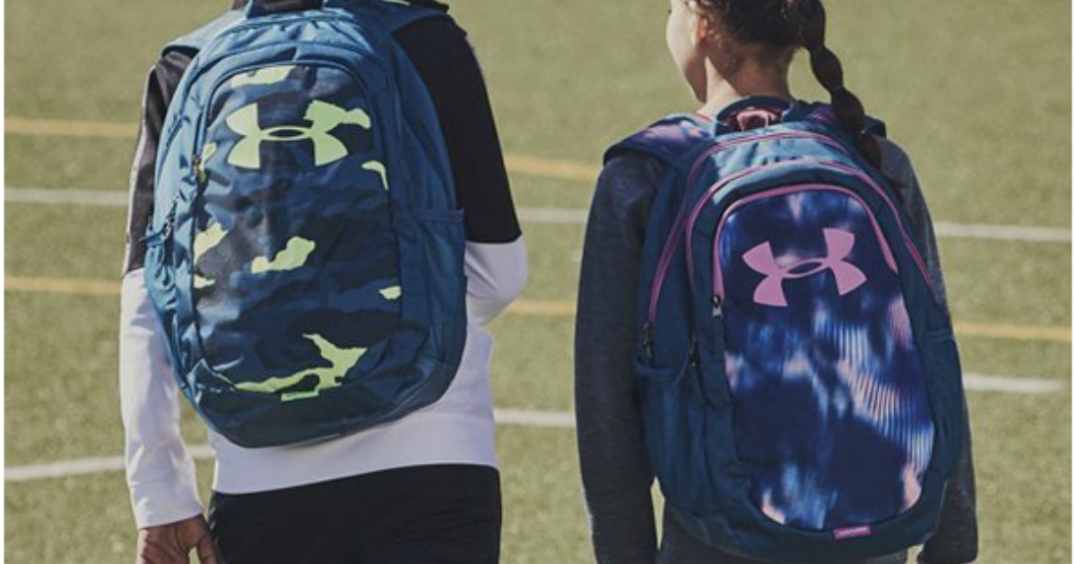 Kids walking to school with under armour backpacks