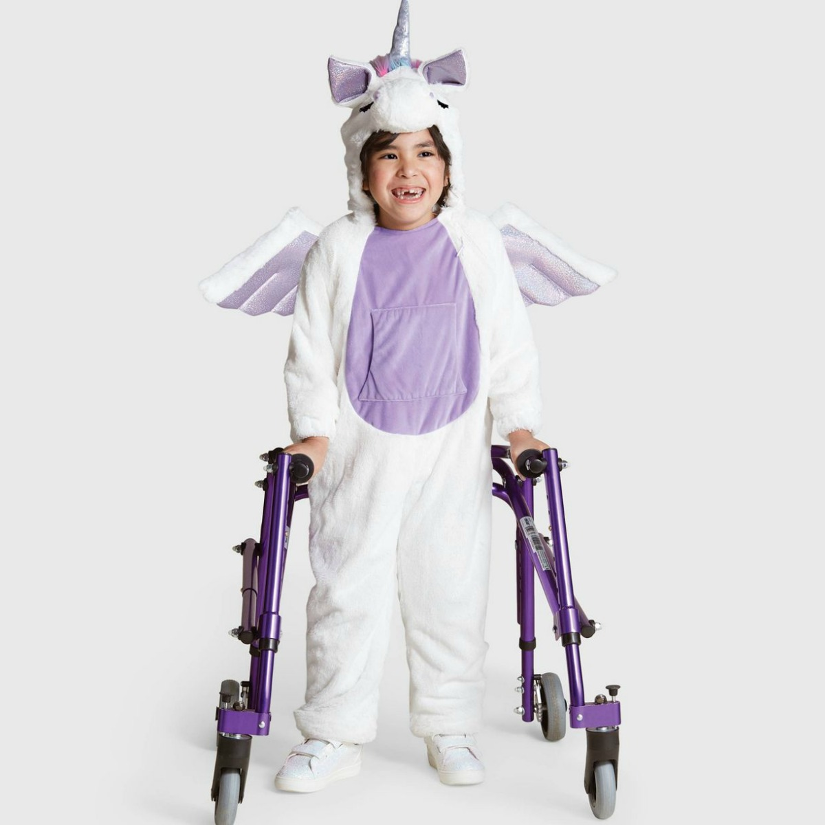 Girl wearing a unicorn costume