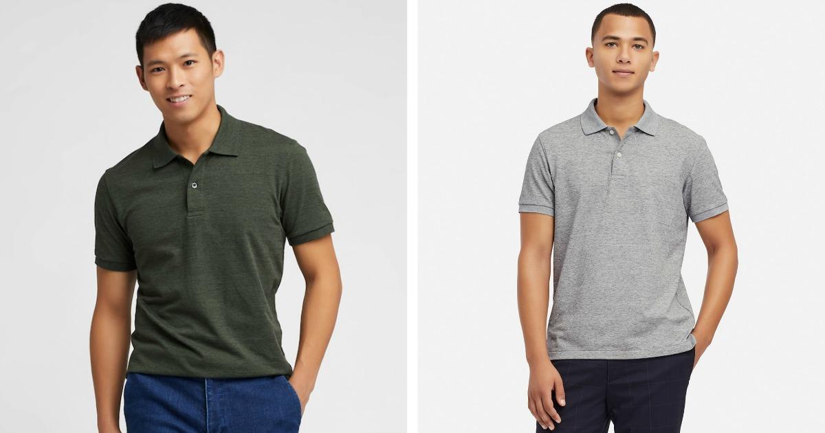 Two men wearing Uniqlo Polo shirts