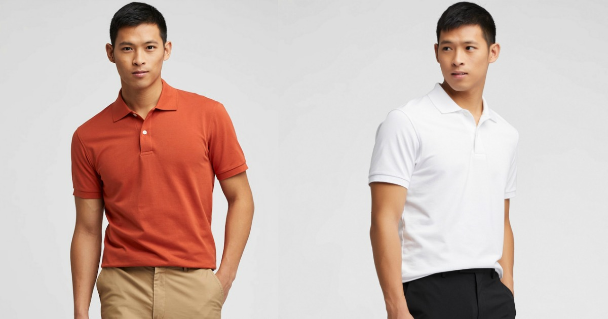 Two men wearing Uniqlo Polo shirts