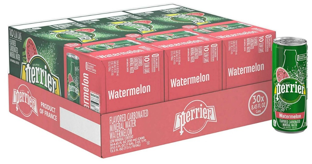 Perrier Watermelon Sparking Mineral Water, 30-Pack case