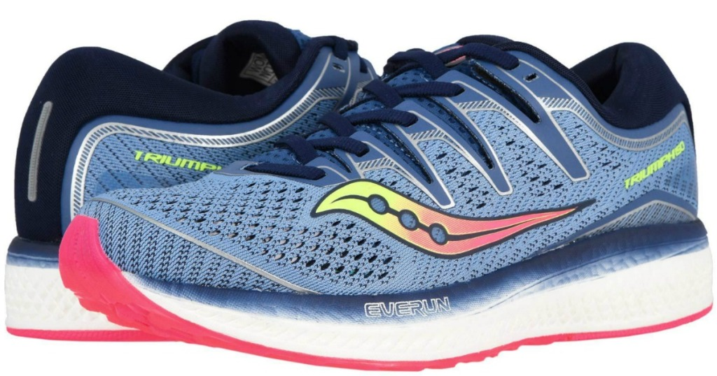 Women's Saucony Triumph ISO Running Shoes in blue and navy