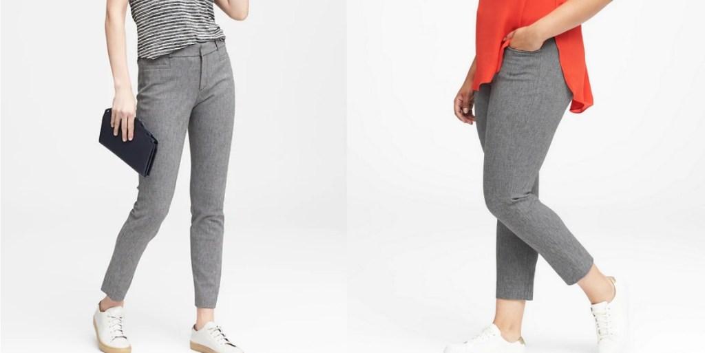 Woman modeling Sloan Skinny Pants
