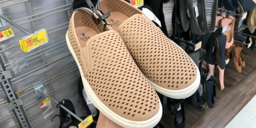 Women's Time & Tru Perforated Slip-Ons Only $3 (Regularly $15)