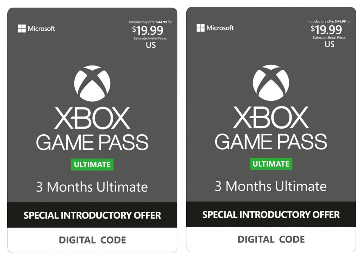 Xbox Game Pass Ultimate Cards for digital codes