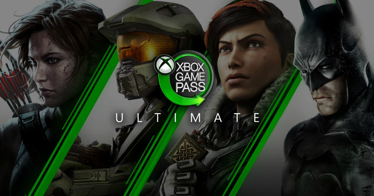 Xbox Game Pass Ultimate game characters in background