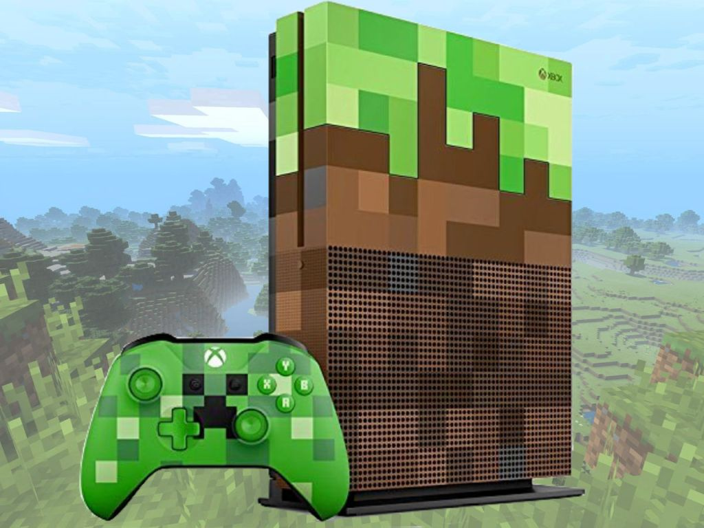 Xbox One S 1TB Minecraft Limited Edition Bundle with controller
