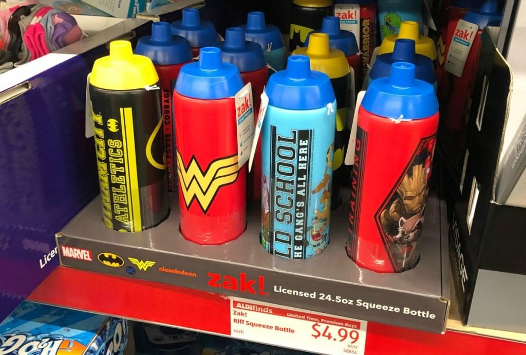 Various licensed kids water bottles