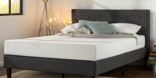 Amazon: Zinus Upholstered Queen Size Platform Bed Only $152.99 Shipped (Regularly $400)