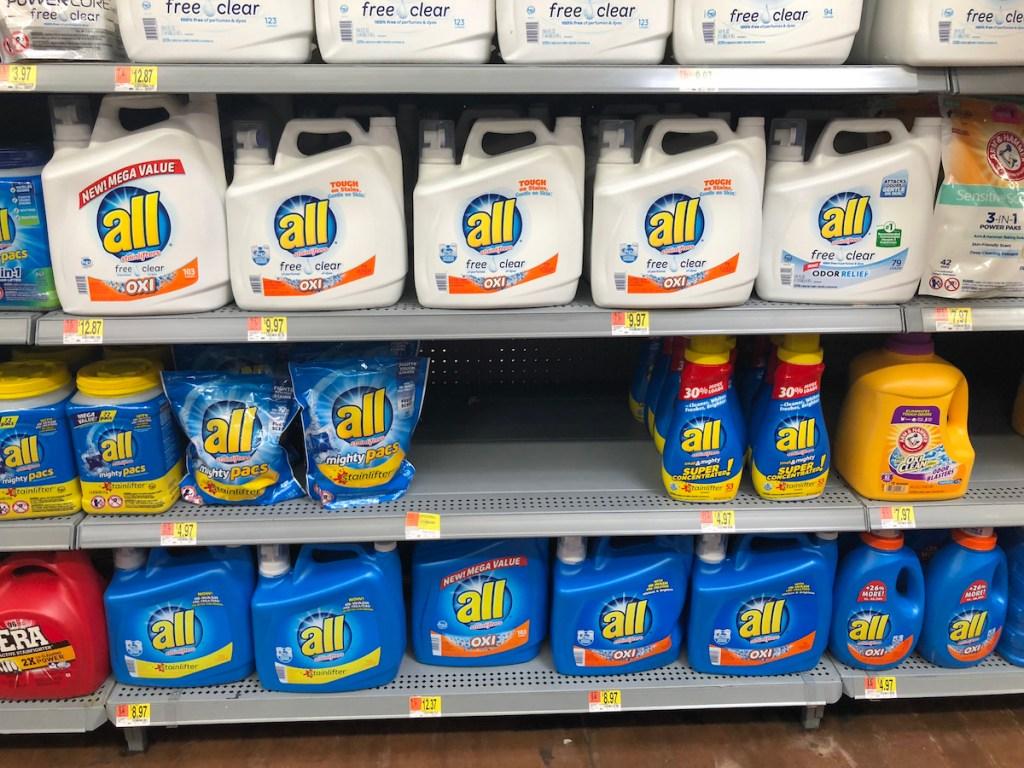 all detergent at Walmart