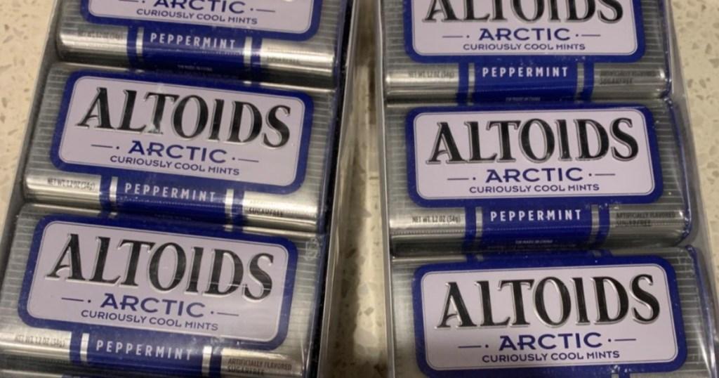 altoids tin packs on counter