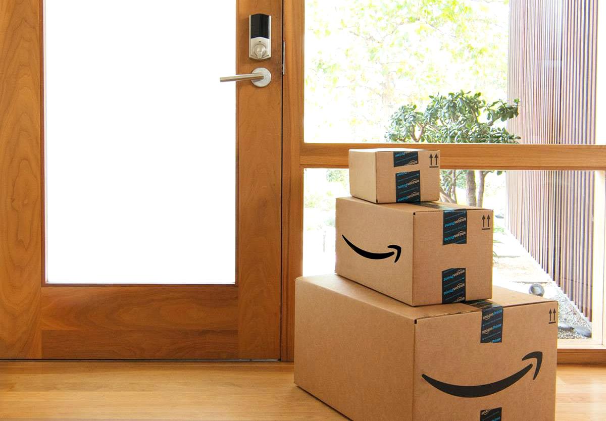amazon boxes inside house