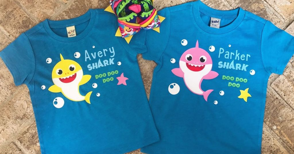Personalized Baby Shark Bodysuits & Tees Only $14.99