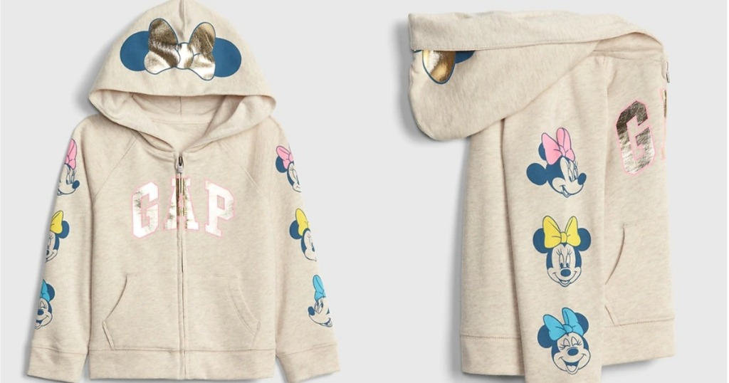 babyGap Disney Minnie Mouse Gap Logo Hoodie Sweatshirt