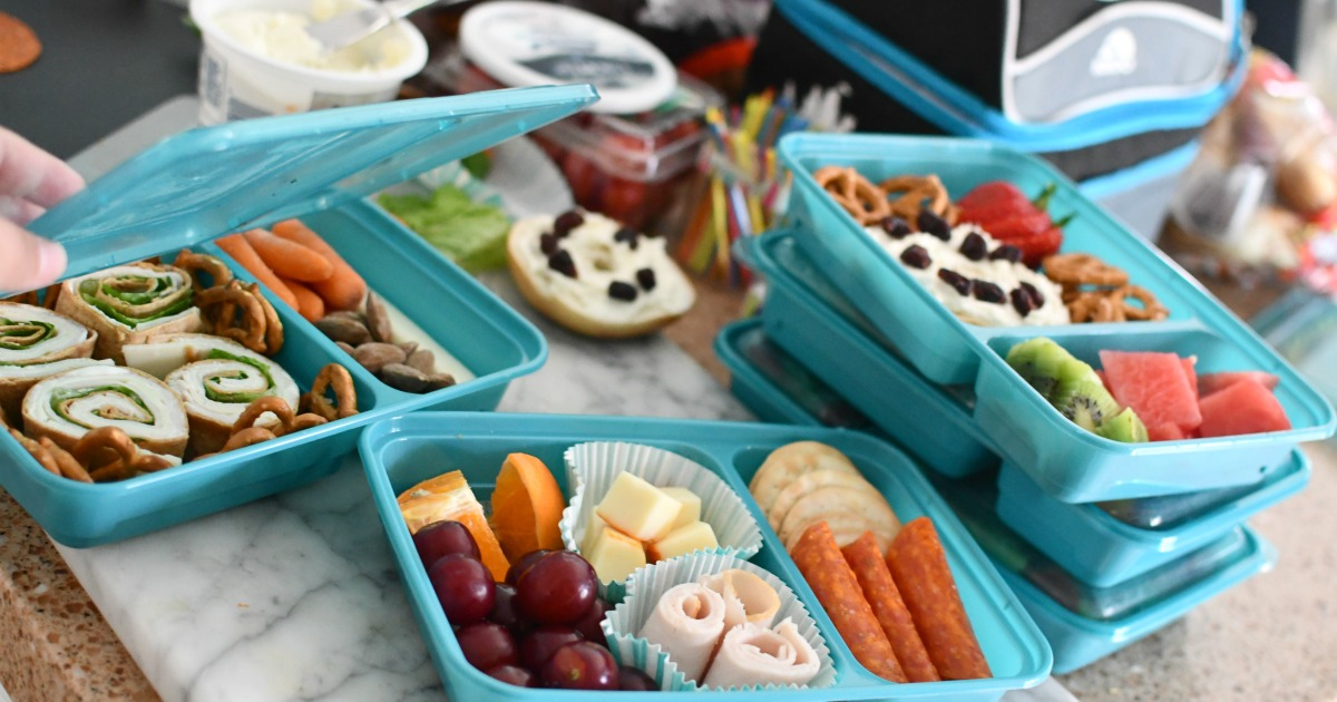 back-to-school lunch ideas in meal prep boxes