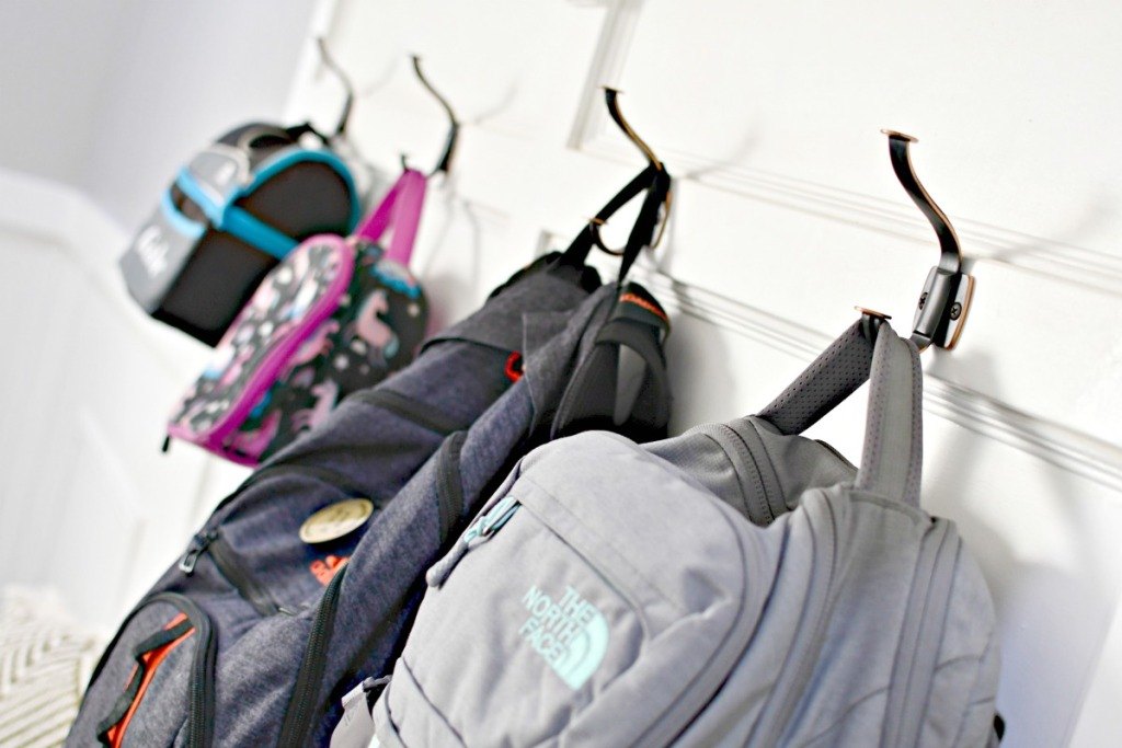 install backpack hooks for back to school