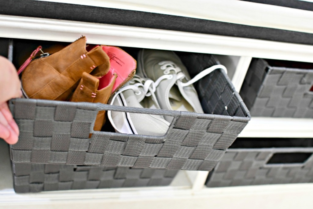 basket of shoes