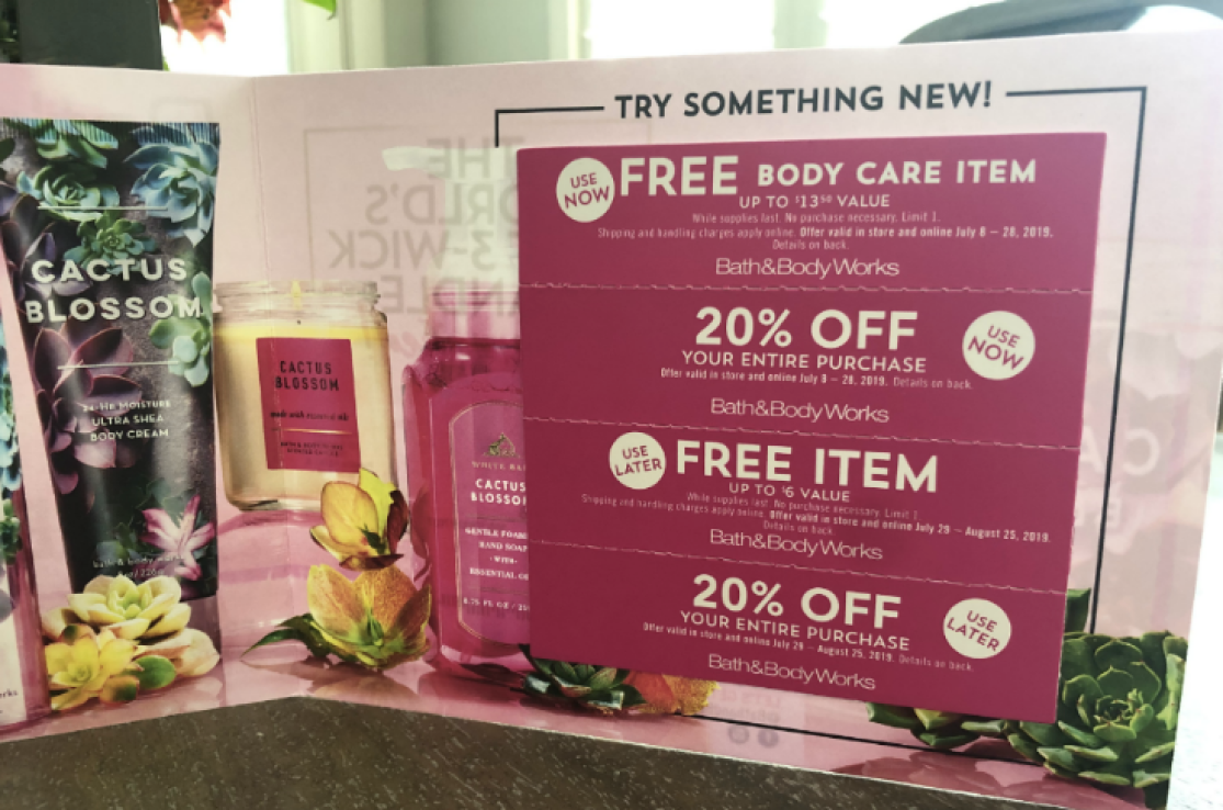 New Bath Amp Body Works Coupon Booklet W Free Item Offers