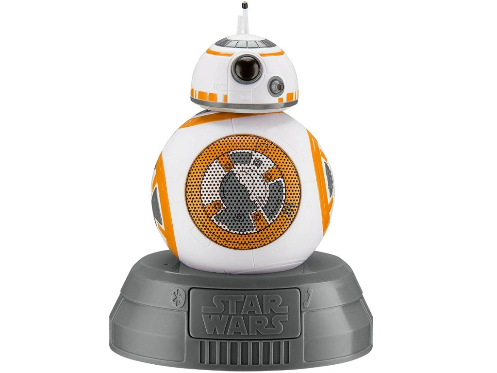 star wars figure called BB8 on a white background