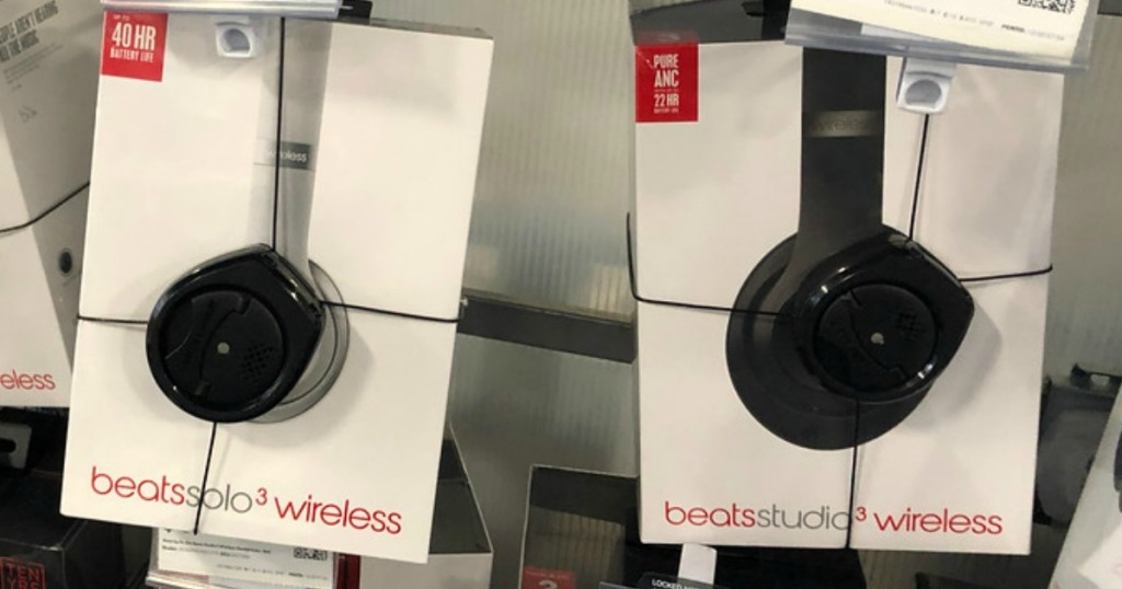 beats solo3 and beats studio3 hanging at the store