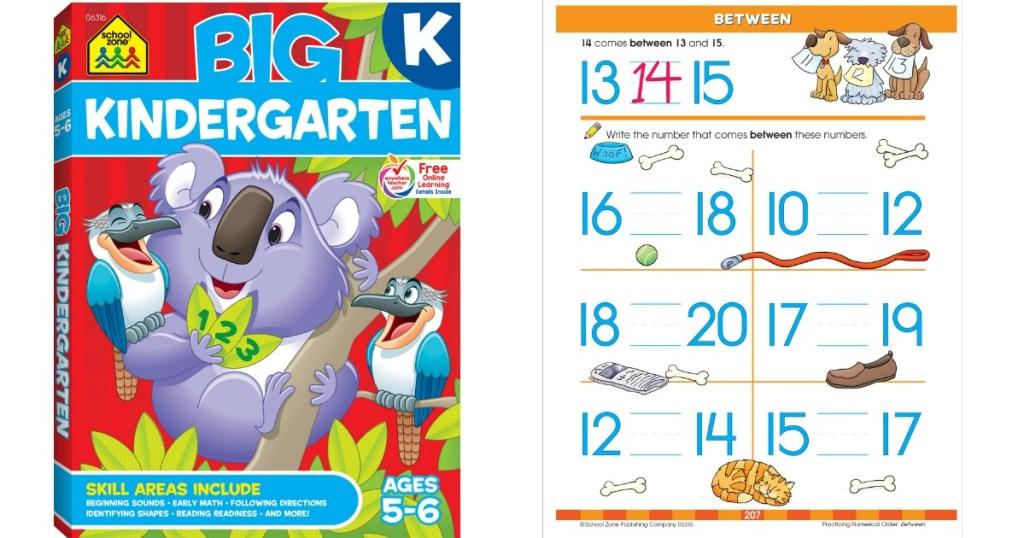 kindergarten workbook and math sheet