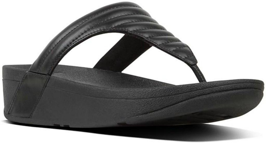 black sandal flip flops
