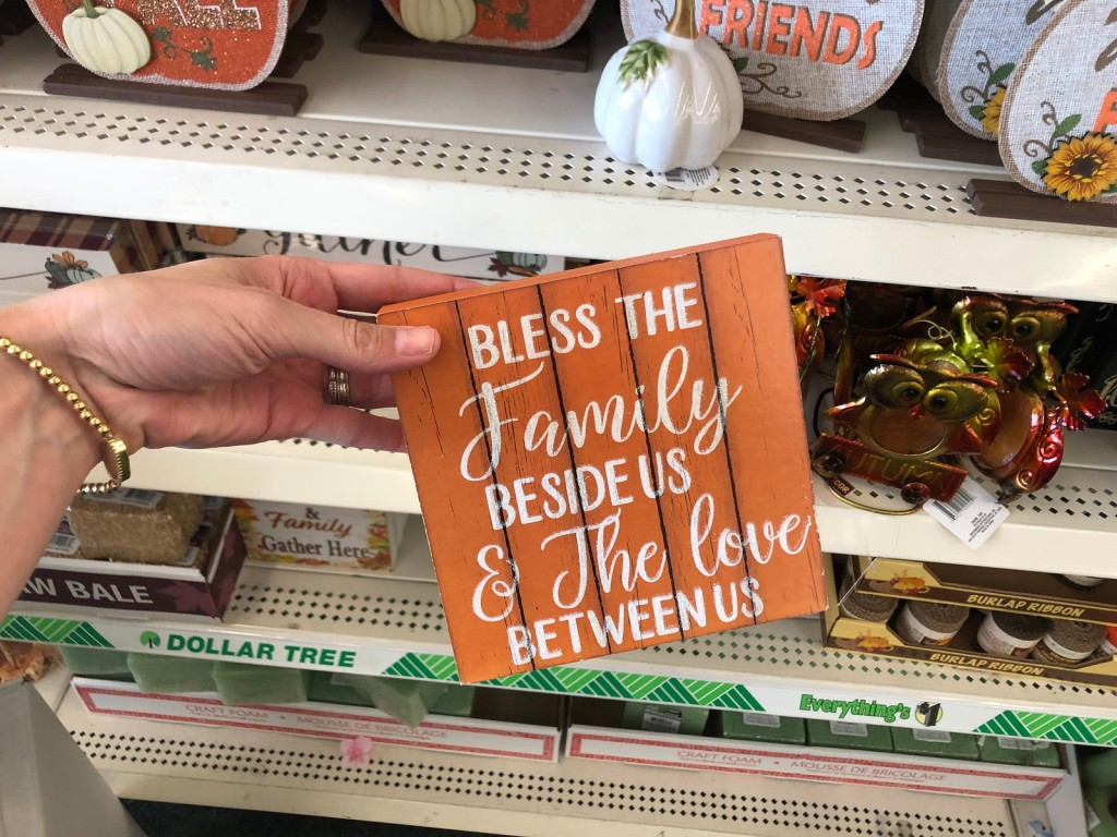 Bless the Family Plank Sign at Dollar Tree