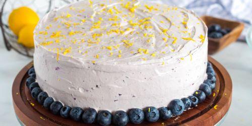 This Lemon Blueberry Cake is Divine!