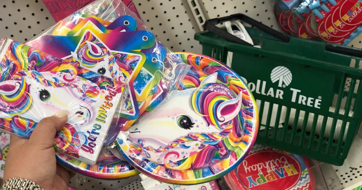unicorn Party supplies at Dollar Tree