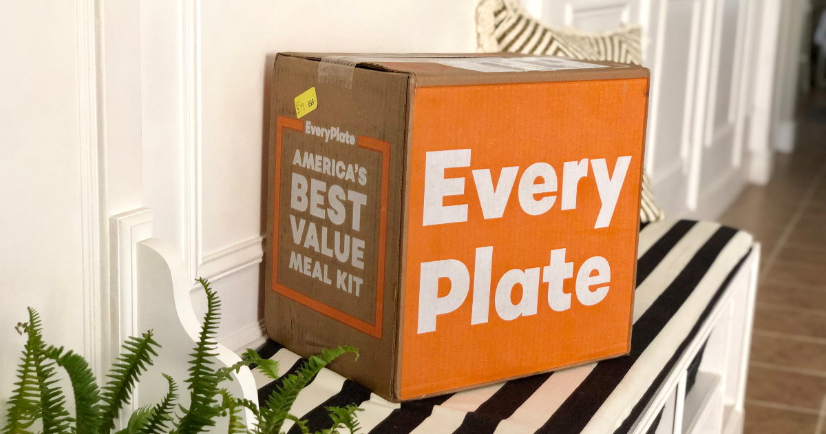 EveryPlate box in foyer