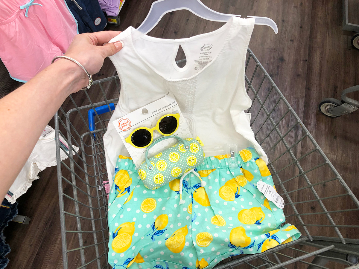 lemon-themed summer outfit for girls at walmart