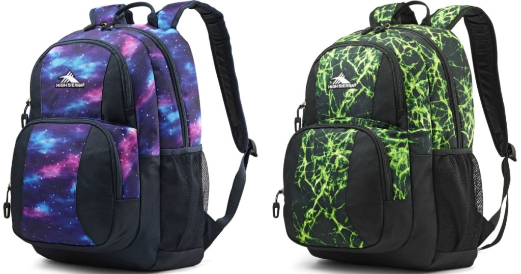 cosmos and green lightning backpacks