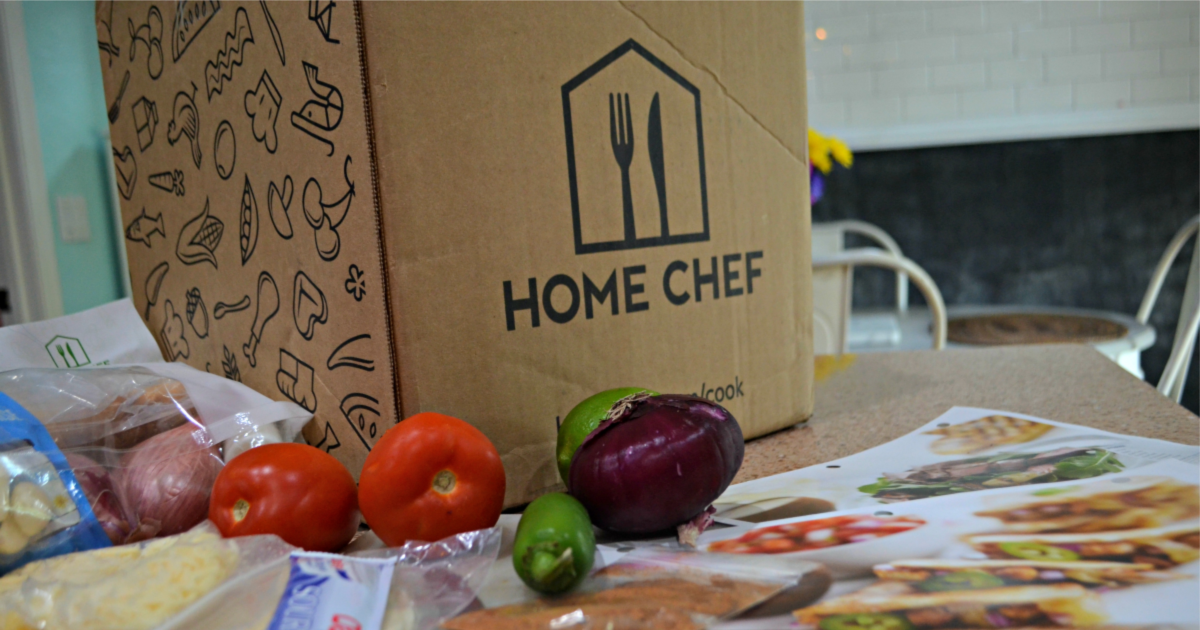 home chef box with veggies on table