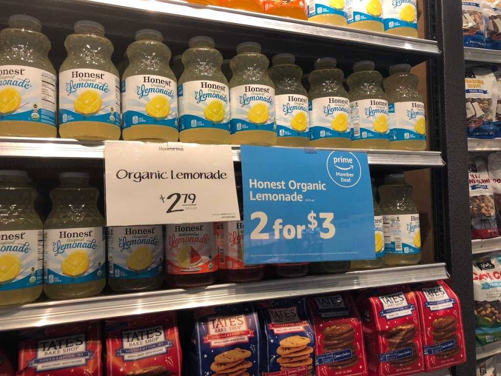 honest organic lemonade bottles at whole foods