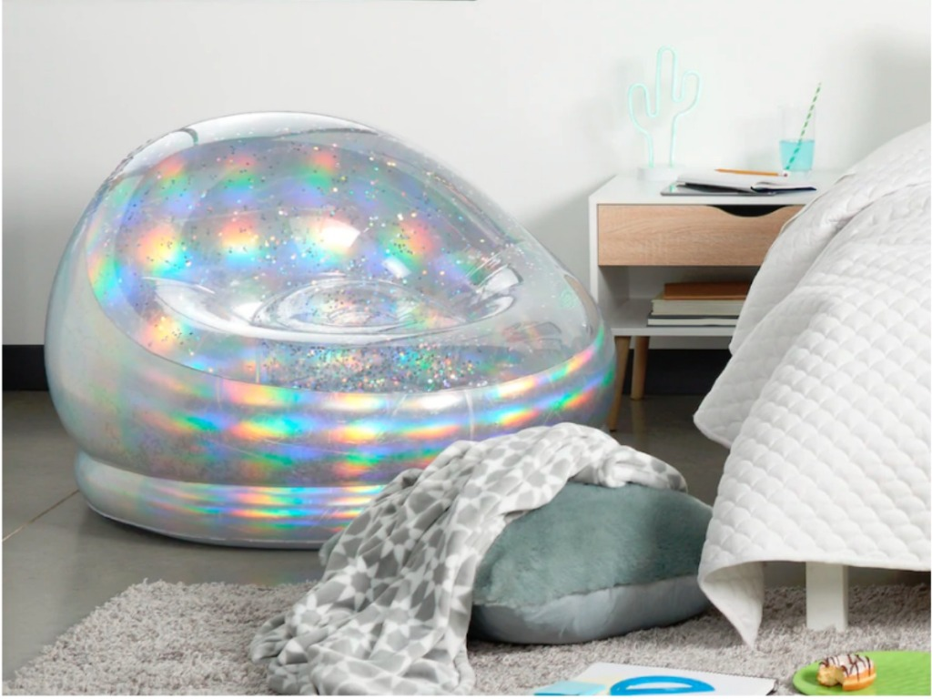 Superb The Big One Inflatable Glitter Chairs Only 23 79 At Kohls Pabps2019 Chair Design Images Pabps2019Com