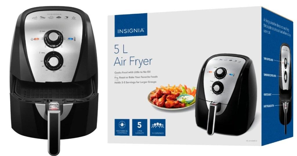 insignia air fryer 5 liter in box