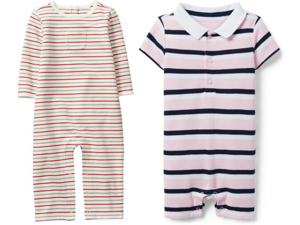 baby striped one-pieces