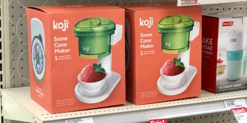 Up to 50% Off Koji Snow Cone & Waffle Cone Makers at Target + Syrups Just 99¢ Each
