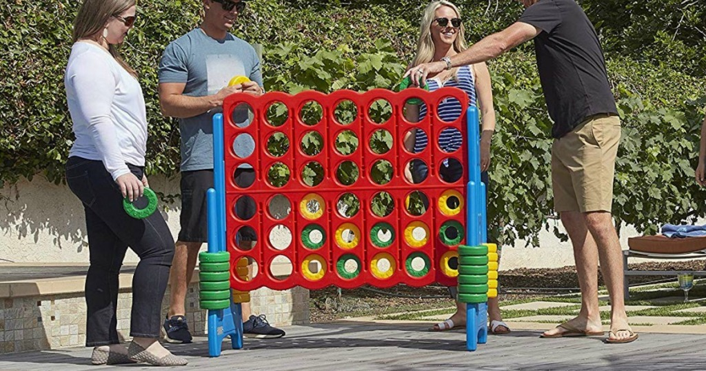people playing large Connect 4 Outdoor Game