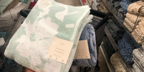 TWO Lauren Conrad 6-Piece Bath Towel Sets as Low as $30.78 Shipped For Kohl's Cardholders (Regularly $160)
